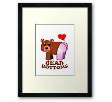 love bear bottoms Framed Print