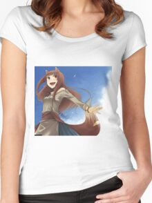 Holo The Wisewolf Women's Fitted Scoop T-Shirt