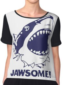 Funny Jawsome Jaws Shark  Chiffon Top