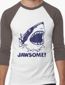Funny Jawsome Jaws Shark  Men's Baseball ¾ T-Shirt