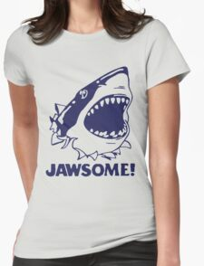 Funny Jawsome Jaws Shark  Womens Fitted T-Shirt