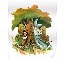 Bilbo Baggins and Gandalf Poster