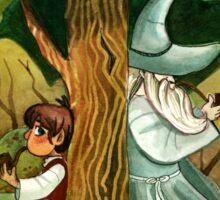 Bilbo Baggins and Gandalf Sticker