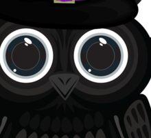 Black Owl Witch Sticker