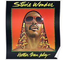 STEVIE WONDER - HOTTER THAN JULY ALBUM Poster