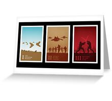 Star Wars Prequel Posters By Jonathan Ellis Greeting Card