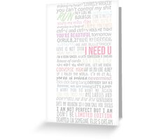 BTS Lyrics Greeting Card