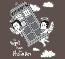 The Angels have the Phone Box - Version 3 BW (for dark tees) One Piece - Short Sleeve