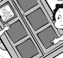 The Angels have the Phone Box - Version 3 BW (for dark tees) Sticker