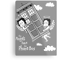 The Angels have the Phone Box - Version 3 BW (for dark tees) Metal Print