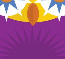 Star Owl - Yellow Orange Purple Sticker