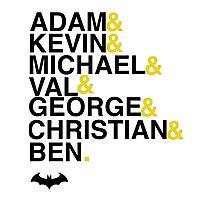 Batman actors shirt & more Photographic Print