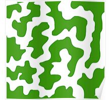 Green and White Abstract Poster