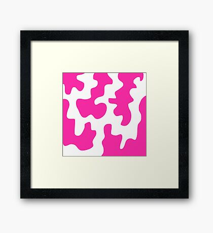 Pink and White Abstract Framed Print