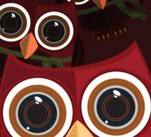 The Red Owl - Quadruple Sticker