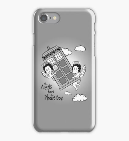 The Angels have the Phone Box - Version 3 BW (for light tees) iPhone Case/Skin