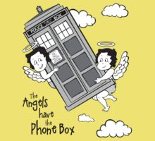 The Angels have the Phone Box - Version 3 BW (for light tees) Baby Tee