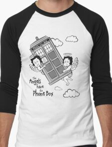 The Angels have the Phone Box - Version 3 BW (for light tees) Men's Baseball ¾ T-Shirt