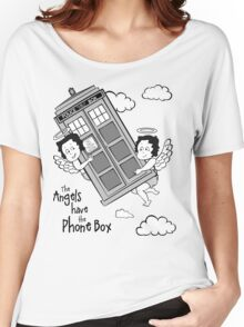 The Angels have the Phone Box - Version 3 BW (for light tees) Women's Relaxed Fit T-Shirt