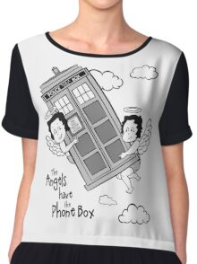 The Angels have the Phone Box - Version 3 BW (for light tees) Chiffon Top