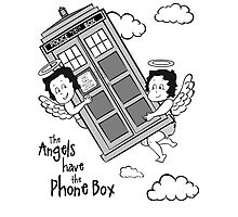 The Angels have the Phone Box - Version 3 BW (for light tees) Photographic Print