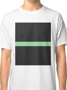 Simple Division - Abstract, Geometric, Minimalist Pop Art Style In Green Classic T-Shirt