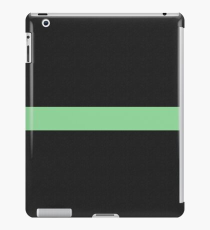 Simple Division - Abstract, Geometric, Minimalist Pop Art Style In Green iPad Case/Skin