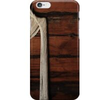 28.4.2016: Curtains on Old Timber Wall iPhone Case/Skin