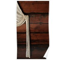 28.4.2016: Curtains on Old Timber Wall Poster