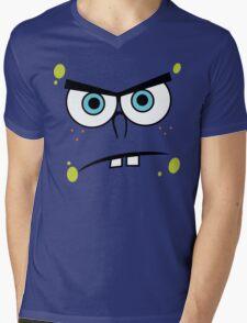 Spongebob Angry Face Mens V-Neck T-Shirt