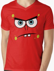 Spongebob Angry Face Mens V-Neck T-Shirt