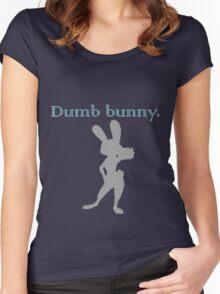 Zootopia / Zootropolis - Judy Hopps Dumb Bunny Women's Fitted Scoop T-Shirt