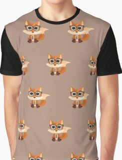 Fox Nerd  - Pattern Graphic T-Shirt