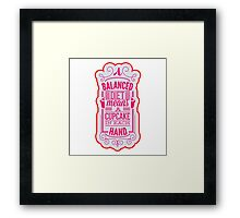 Balanced diet with cupcake Framed Print