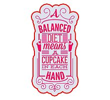 Balanced diet with cupcake Photographic Print