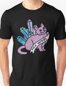 haters crystal cat cosmic kitten meme cute sassy feminist print T-Shirt