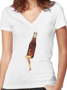 Let's All Go to the Lobby - Soda Girl Women's Fitted V-Neck T-Shirt
