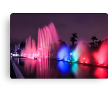 Colourful illuminated fountain, Magic Water Tour  Canvas Print
