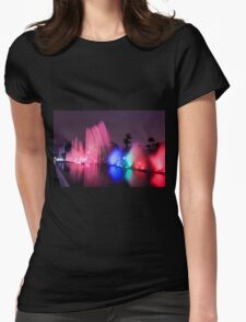 Colourful illuminated fountain, Magic Water Tour  Womens Fitted T-Shirt