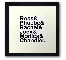 Friends - Names  Framed Print