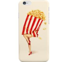 Let's All Go to the Lobby - Popcorn Girl iPhone Case/Skin