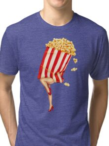 Let's All Go to the Lobby - Popcorn Girl Tri-blend T-Shirt