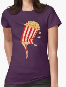 Let's All Go to the Lobby - Popcorn Girl Womens Fitted T-Shirt