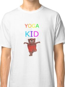 YOGA KID with Teddy Bear in Tree pose Classic T-Shirt