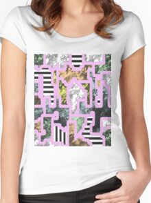 Paint Segregation - Abstract, multi patterned collage Women's Fitted Scoop T-Shirt