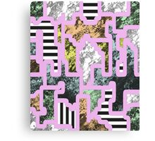 Paint Segregation - Abstract, multi patterned collage Canvas Print