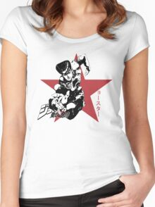 Josuke Higashikata - Jojo's Bizarre Adventure Women's Fitted Scoop T-Shirt