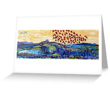 Moyhastin Panorama: from Clew Bay to the Sheeffry Hills - Mayo Greeting Card
