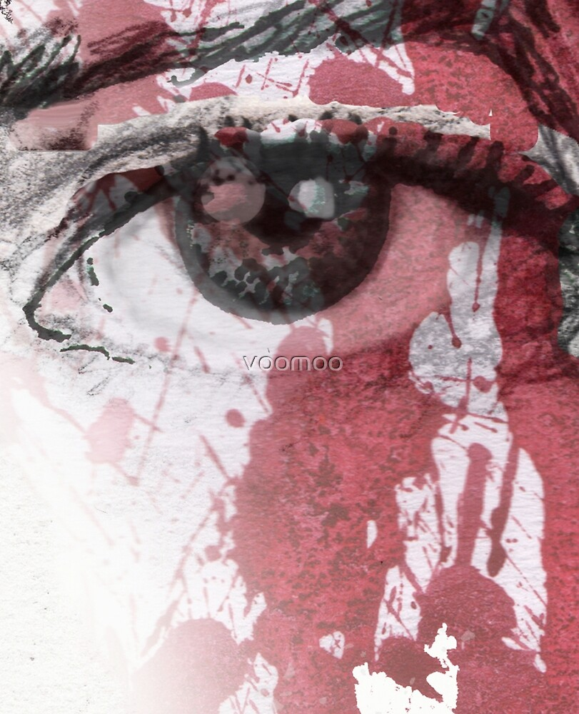 your blood in my eye by VOO MOO