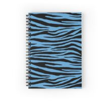 0115 Carolina Blue Tiger Spiral Notebook